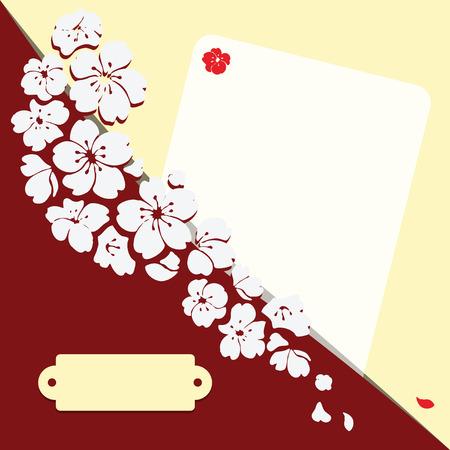 Romantische kaart met bloemen voor elk evenement. Vector spoorloos.