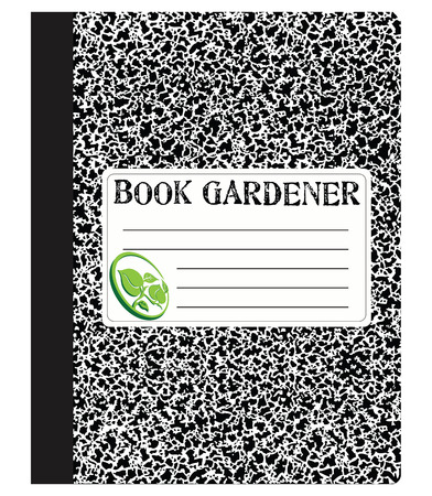 Book a gardener to maintain records of work. Vector illustration.