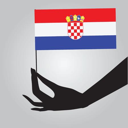 Symbol of statehood Croatia - flag. Vector illustration.