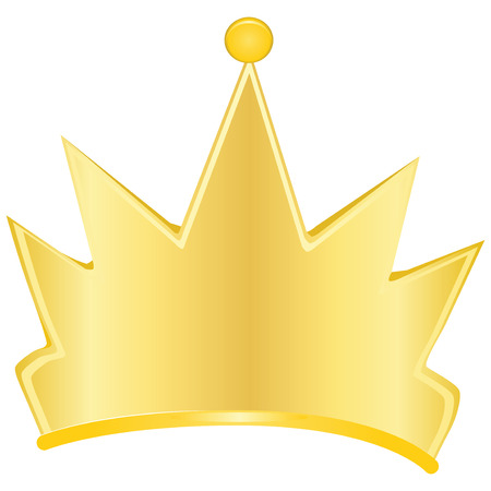 Gold crown - a symbol of power. Vector illustration. Illustration