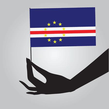 국가의 상징 케이프 베르데 - 플래그입니다. 벡터 일러스트 레이 션.