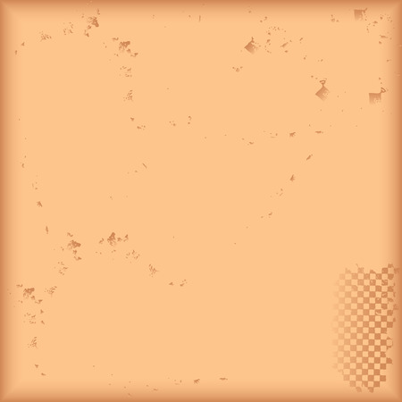 Abstract beige background with mechanical injuries. Vector illustration. Ilustrace