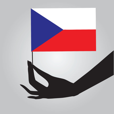 Czech Republic a symbol of statehood - a flag. Vector illustration. 向量圖像