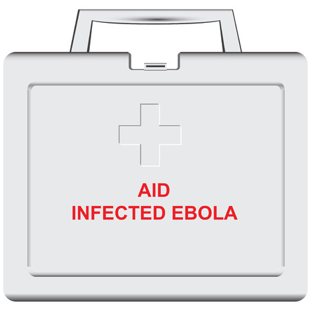 Plastic medical container with medical care for infected with Ebola virus. Vector illustration. Ilustracja