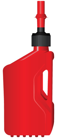 refueling: Plastic container for fuel, refueling the car. Vector illustration.