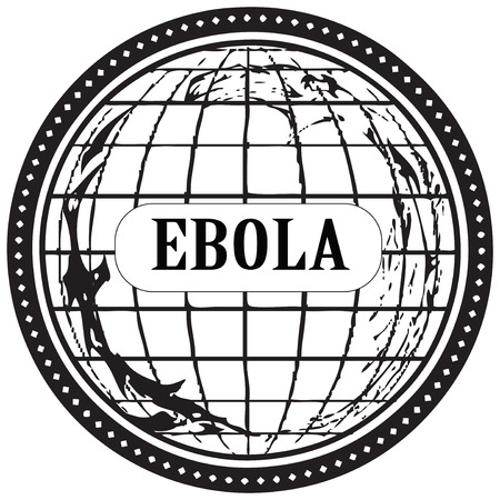infectious: Punching an imprint dedicated to the Ebola virus. Vector illustration.