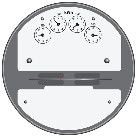 Electrical device for measuring the consumption of electricity. Vector illustration. Illustration