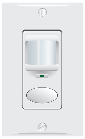 Movement and sound indoor sensor for automatic switching of light. Vector illustration. Çizim