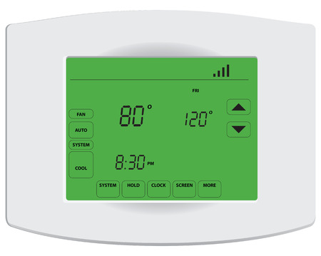 Programmable digital thermostat with touch screen .