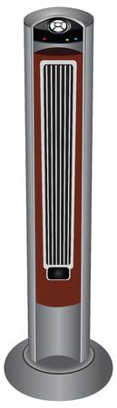 duct: Ventilador del conducto con mando a distancia de la casa. Ilustraci�n del vector.