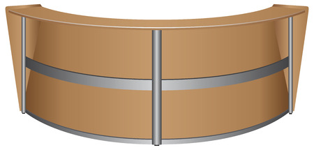 front desk: Oval table for visitors in the office. Vector illustration. Illustration