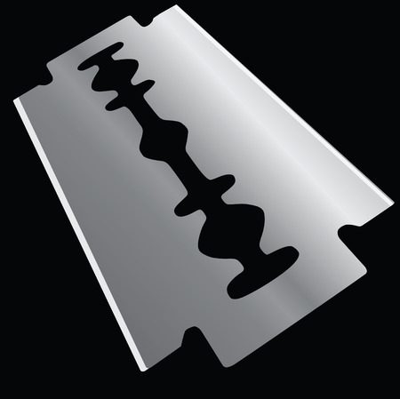 Replacement element razor. Razor blades. Vector illustration. Çizim