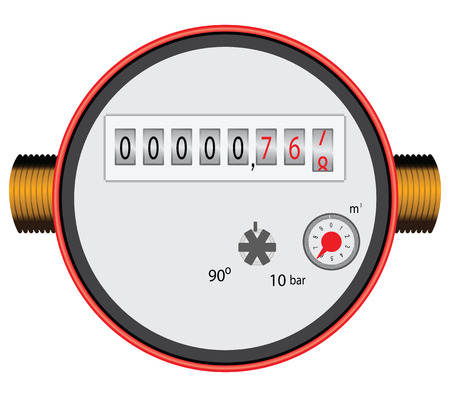 Right Flowing Water Timer to control the water flow. Vector illustration. Vettoriali