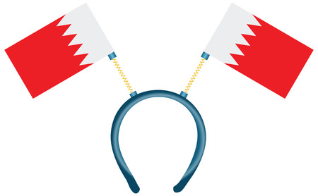 witty: Witty headdress with flags Bahrain. Vector illustration.