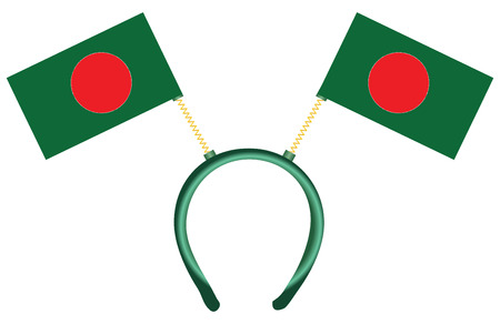 witty: Witty headdress with flags Bangladesh. Vector illustration.