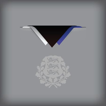 エストニア語の国民の旗の色の組み合わせ。ベクトル イラスト。  イラスト・ベクター素材