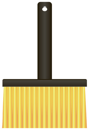 paste: Full paste brush industrial purposes. Vector illustration.