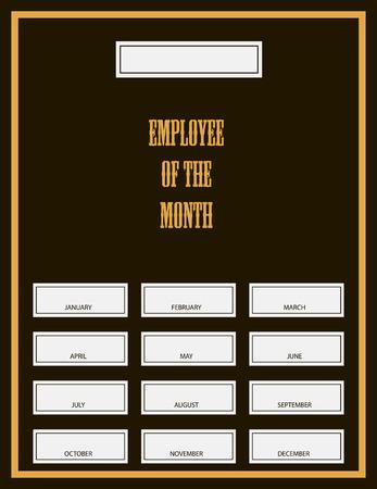 月間賞キットの従業員。ベクトル イラスト。  イラスト・ベクター素材