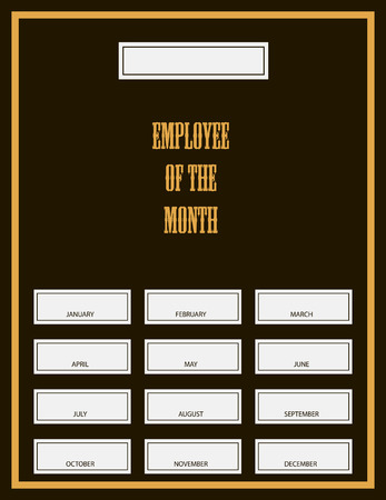 Employee Of The Month Award Kit. Vector illustration. Vector
