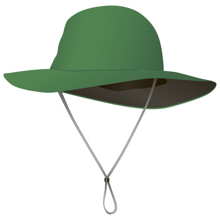 brim: Cloth hat from the sun with a wide brim. Vector illustration. Illustration