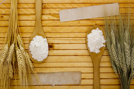 Different varieties of flour and starch from cereal crops.