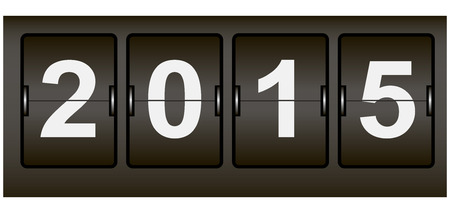 Digital Signage Web counter with the date of the new year. Vector illustration.