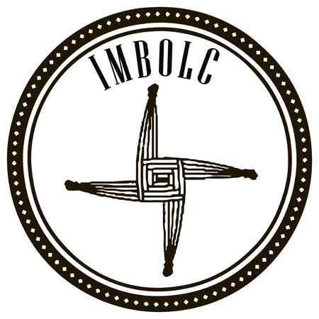 Symbol of the holiday celebrated Imbolc Ireland, Scotland, Isle of Man, and so on. Vector illustration. Ilustração