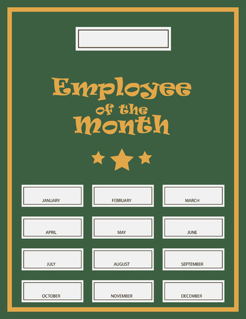 Employee Of The Month Award Kit. Vector illustration.