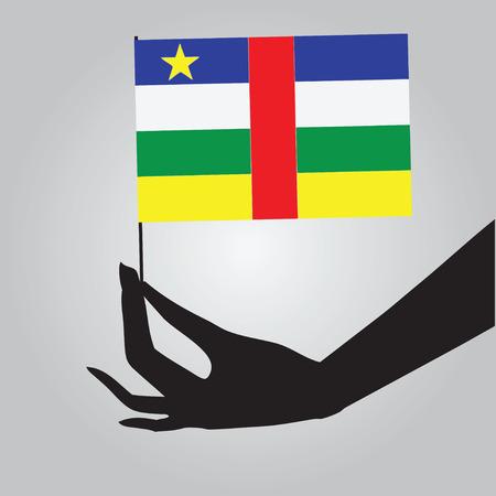 statehood: Symbol of statehood Central African Republic - flag. Vector illustration.