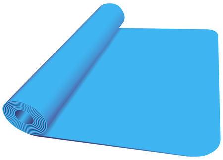 rubber tube: Sports bedding for classes in yoga and fitness room. Vector illustration.