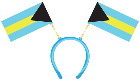 Witty headdress with flags Bahamas. Vector illustration.