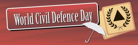 Banner World Civil Defence Day. Vector illustration. Ilustração