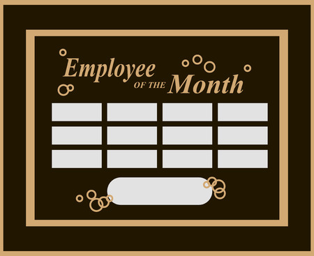 Employee Of The Month Award Kit . Vector illustration. Çizim