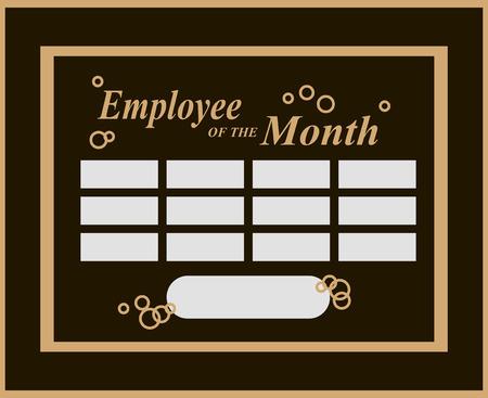 Employee Of The Month Award Kit . Vector illustration. Vettoriali