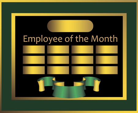 Office information board Employee of the Month. Vector illustration. Vector