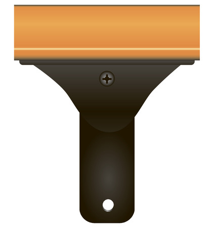 scraper: Industrial razor scraper for surface treatment of various materials. Vector illustration.