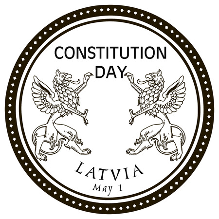 constitution day: May 1st Constitution Day Latvia stamp rubber stamp. Vector illustration.