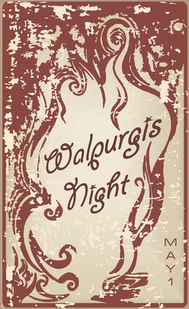 Walpurgis Night events mark the first of May. Vector illustration.