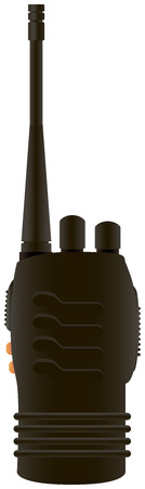 Shortwave radio transmitter for industrial use. Vector illustration.
