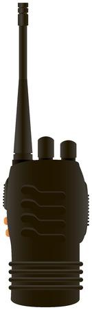 portable radio: Shortwave radio transmitter for industrial use. Vector illustration.