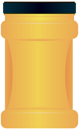 Plastic container for bulk food starch and flour. Vector illustration. Ilustrace