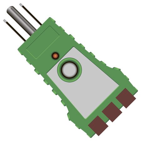 impedance: Tester with fixed state and integrity control circuits. Vector illustration.