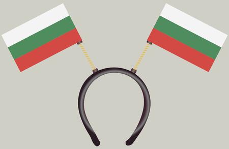 Witty headdress with flags Bulgariai. Vector illustration.