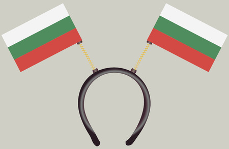 witty: Witty headdress with flags Bulgariai. Vector illustration.
