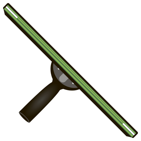 scraper: Rubber scraper for cleaning the working surface of the smooth surface. Vector illustration.