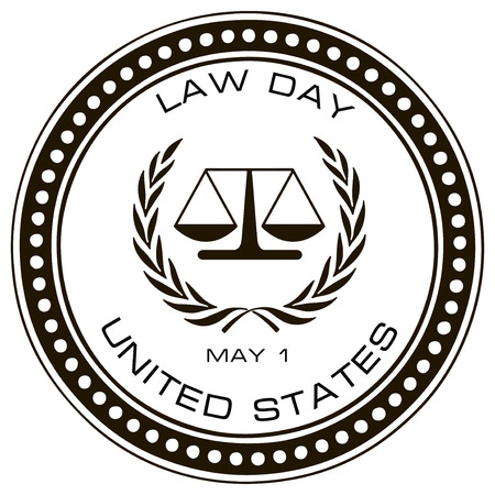 Law Day in the United States. Vector illustration.