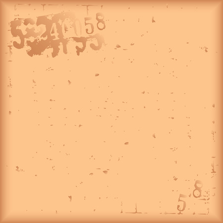 Damaged brown background with symbolic figures. Vector illustration. Ilustração