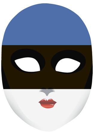 エストニアの国家としての地位のシンボルで古典的なマスクです。ベクトル図  イラスト・ベクター素材