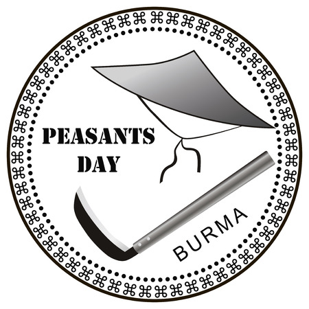 agrarian: Peasants Day - Public holidays in Burma. Vector illustration. Illustration