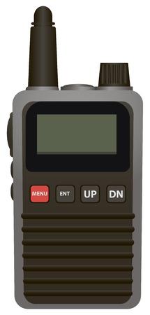 portable radio: Equipos miniatura transmisor de radio port�til. Ilustraci�n del vector.